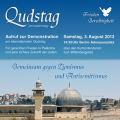 Aufruf zur Demonstration am internationalen Qudstag 2013