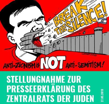 Stellungnahme zur Presseerklärung des Zentralrats der Juden