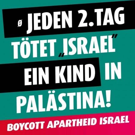 Ca. Jeden 2. Tag tötet 'Israel' ein Kind in Palästina!