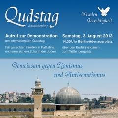 Aufruf zur Demonstration am internationalen Qudstag 2013
