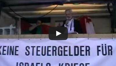 Protestkundgebung gegen Überfall der israelischen Armee auf Friedensschiffe 2010 – Berlin