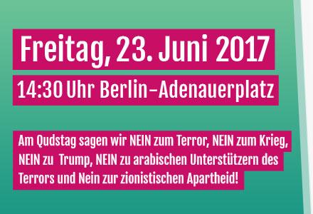 Aufruf zur Demonstration am internationalen Qudstag 2017